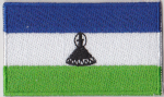 Lesotho Embroidered Flag Patch, style 04